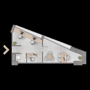 Planta B  37,69 m2